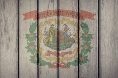 État d'USA Virginia Flag Wooden Fence occidentale illustration libre de droits