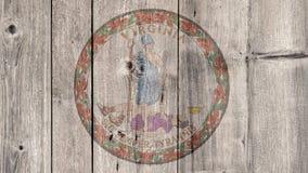 État d'USA Virginia Seal Wooden Fence illustration stock