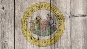 État d'USA Virginia Seal Wooden Fence occidentale illustration libre de droits