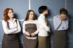 État de attente de secrétaire au bossage. pleurer de femme Photographie stock libre de droits