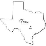État de contour du Texas illustration stock