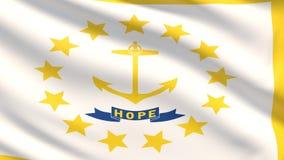 État de drapeau d'île de Rhode pays des pavillons Etats-Unis illustration stock