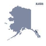 État de l'Alaska de vecteur d'isolement sur le fond blanc Images libres de droits