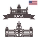 État de l'Iowa Capitale de l'État de l'Iowa illustration libre de droits