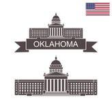 État de l'Oklahoma Construction de capitol d'état de l'Oklahoma Photo libre de droits