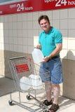 État de préparation d'ouragan - verticale de l'eau Photographie stock libre de droits