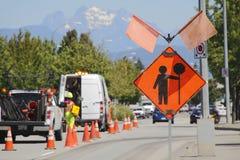 État de préparation de sécurité de construction de routes Photographie stock libre de droits