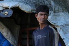ÉTAT DE RAKHINE, MYANMAR - 5 NOVEMBRE : Les centaines de musulmans Rohingya souffrent la malnutrition grave dans les camps surcha photographie stock libre de droits