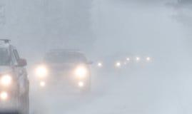 État des routes tempête 3-14-2017 - ni d'hiver de Pâques de ` Image stock