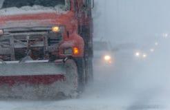 État des routes tempête 3-14-2017 - ni d'hiver de Pâques de ` Photo libre de droits