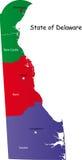 État du Delaware Illustration Libre de Droits