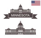 État du Minnesota Capitol d'état du Minnesota à St Paul illustration libre de droits