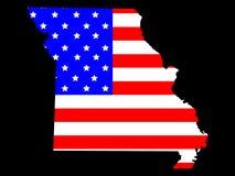 État du Missouri illustration stock