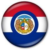 état du Missouri d'indicateur de bouton Image libre de droits