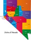État du Nevada illustration stock