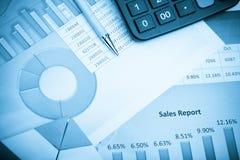 État financier Image stock