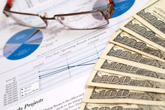 État financier Images stock