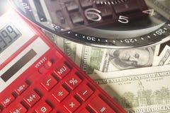 État financier Le temps, c'est de l'argent et richesse Concept de temps et d'argent Image stock