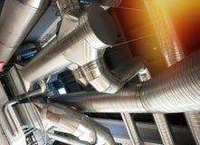 État industriel d'air de tuyaux et de conduits de ventilation Images libres de droits