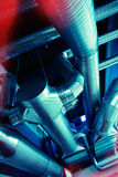État industriel d'air de tuyaux et de conduits de ventilation Image stock