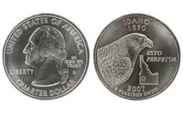 état quart de l'Idaho de pièce de monnaie Image libre de droits