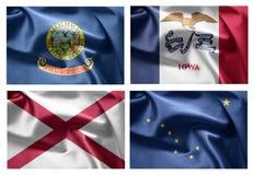 États d'USA 4 dans 1 (set1) Photos libres de droits