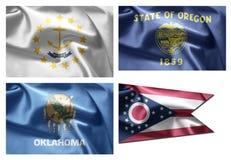 États d'USA 4 dans 1 (set11) Images libres de droits