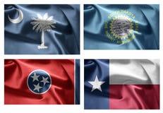 États d'USA 4 dans 1 (set12) Image libre de droits