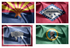 États d'USA 4 dans 1 (set2) Photo stock