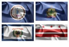 États d'USA 4 dans 1 (set3) Photo libre de droits