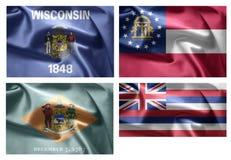 États d'USA 4 dans 1 (set4) Images stock