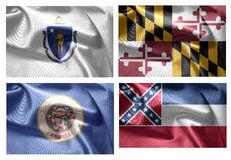 États d'USA 4 dans 1 (set7) Image libre de droits