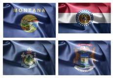 États d'USA 4 dans 1 (set8) Image libre de droits