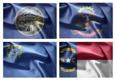 États d'USA 4 dans 1 (set9) Photographie stock libre de droits