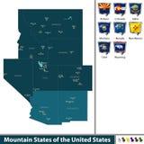 États de montagne des Etats-Unis Photographie stock libre de droits