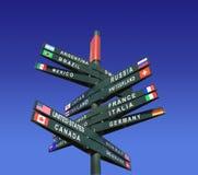 États du monde et de leurs drapeaux Images libres de droits