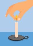 Éteindre une bougie Illustration Libre de Droits