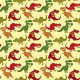 Éteint préhistorique prédateur jurassique sauvage de tyrannosaure de Dino de vecteur de dinosaures de t-rex de danger de force an illustration stock