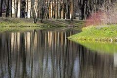 Étendue de l'eau, lac, étang, parc image stock