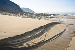 Étendue de plage d'or photos libres de droits