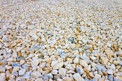 Étendue du gravier blanc Image utile comme fond photographie stock libre de droits