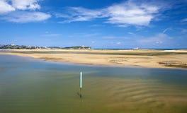 Étendue large du sable sur l'EL Puntal image stock