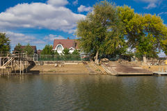 Étendues de rivière de l'Astrakan Photographie stock libre de droits