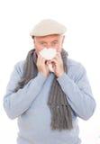 Éternuement de grippe image stock