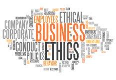 Éthique d'affaires de nuage de Word Images stock