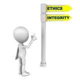 Éthique et intégrité illustration de vecteur