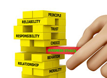 Ética comercial Imagens de Stock Royalty Free