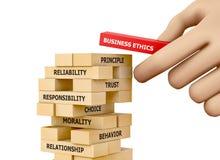 Ética comercial Imagem de Stock