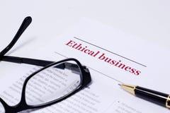 Ética empresarial Fotografía de archivo libre de regalías