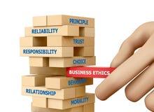 Ética empresarial Imagen de archivo libre de regalías